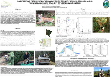 Poster on urban cougars presented by Clint Robins