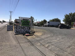 Photo of watermelon stand in Hermiston, OR
